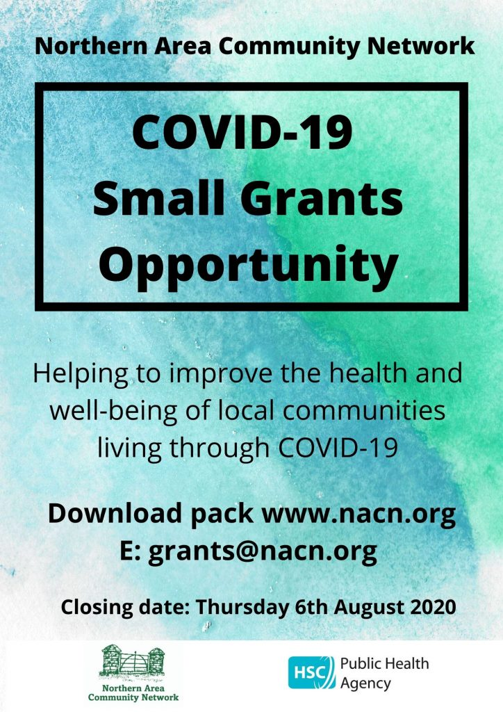 NACN – COVID-19 Small Grants Opportunity – Full packs will be available from Monday 6th July 2020
