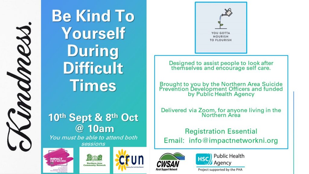 Be Kind To Yourself During Difficult Times 2 Session Programme