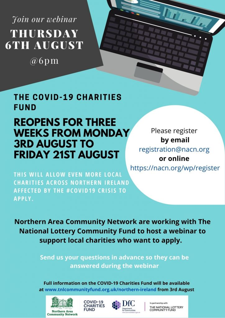 Charities Fund Lottery Webinar hosted by NACN on Thursday 6th August