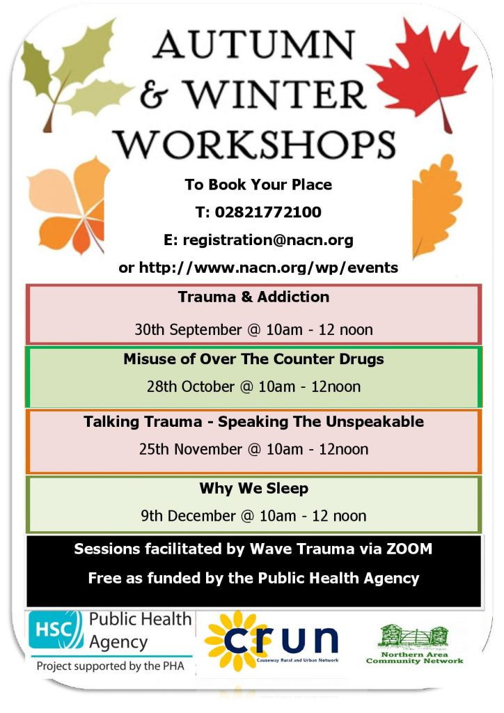 SPDO Upcoming Autumn Winter Workshops