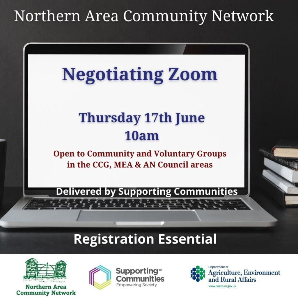 Negotiating Zoom – Delivered by Supporting Communities.