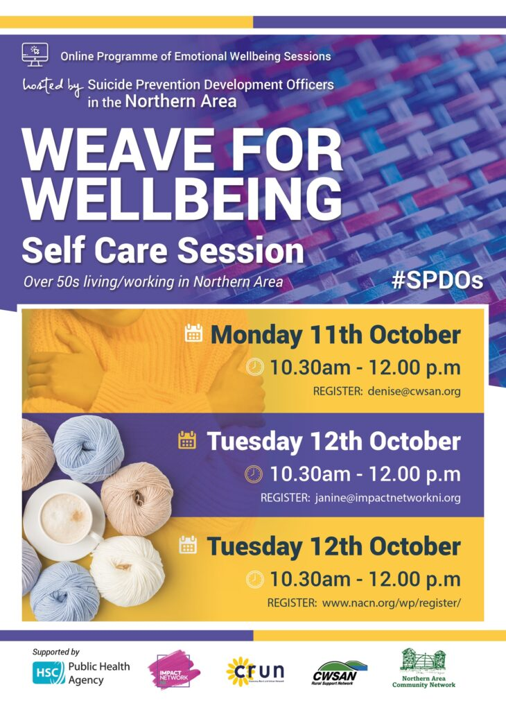 Weave for Wellbeing Self Care Session