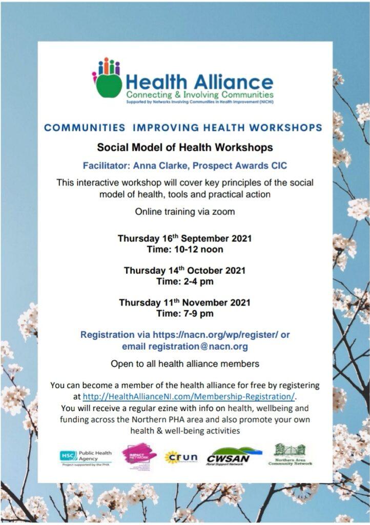 Social Model of Health Workshops