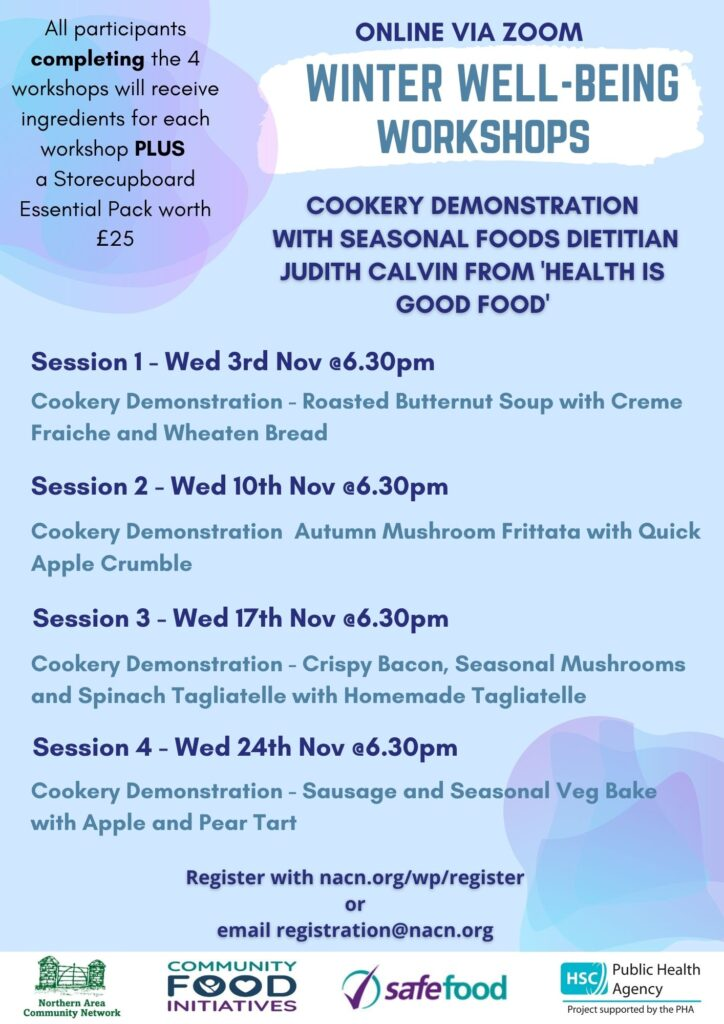 Winter Well-Being Cookery Demonstration Workshops
